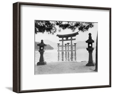 Torii Gate in Water--Framed Photographic Print