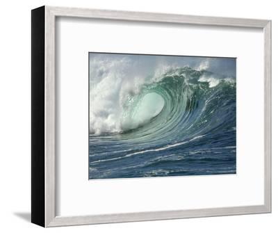 Shorebreak Waves in Waimea Bay-Rick Doyle-Framed Photographic Print