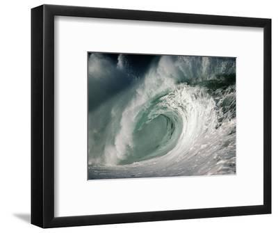 Shorebreak Waves in Waimea Bay-Rick Doyle-Framed Photographic Print