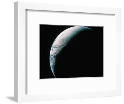 Crescent Earth from Space--Framed Photographic Print
