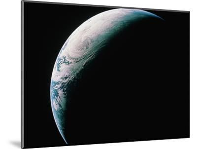 Crescent Earth from Space--Mounted Photographic Print