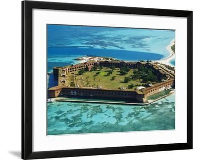 Aerial View of Fort Jefferson-Bob Krist-Framed Photographic Print