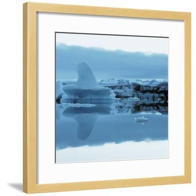 Iceberg Shaped Like a Whale Fin--Framed Photographic Print