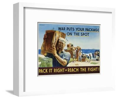 Pack it Right to Reach the Fight! Poster-John Falter-Framed Photographic Print