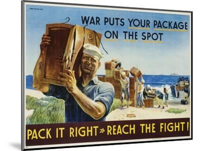 Pack it Right to Reach the Fight! Poster-John Falter-Mounted Photographic Print