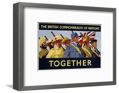 The British Commonwealth of Nations - Together Poster--Framed Photographic Print
