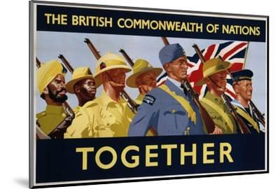 The British Commonwealth of Nations - Together Poster--Mounted Photographic Print