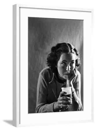 Girl Sipping a Soda-Philip Gendreau-Framed Photographic Print