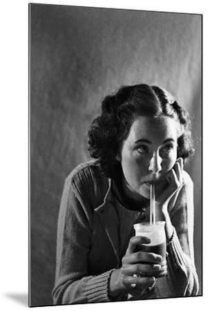 Girl Sipping a Soda-Philip Gendreau-Mounted Photographic Print