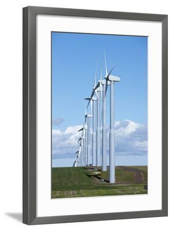 Windmills, Wallula, Washington-Paul Souders-Framed Photographic Print