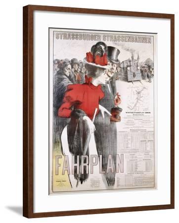 Strassburger Strassenbahnen Fahrplan Poster--Framed Photographic Print
