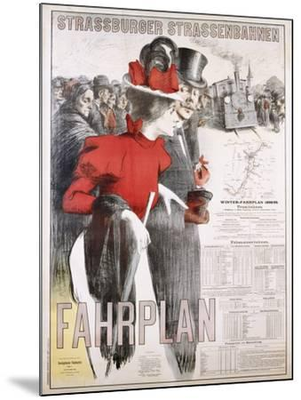 Strassburger Strassenbahnen Fahrplan Poster--Mounted Photographic Print