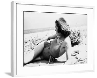 Young Woman at the Beach, Ca. 1938--Framed Photographic Print