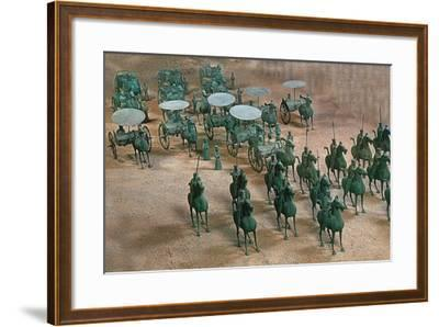 Eastern Han Dynasty Bronze Cavalry and Chariots--Framed Photographic Print