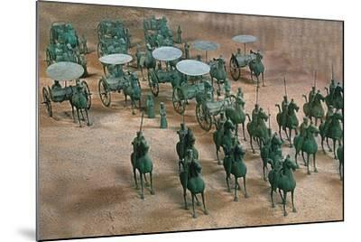 Eastern Han Dynasty Bronze Cavalry and Chariots--Mounted Photographic Print