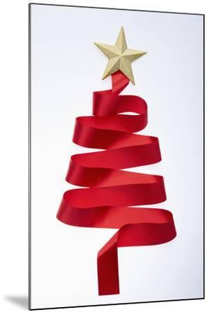 The Tree Shaped Red Tie and Gold Star--Mounted Photographic Print
