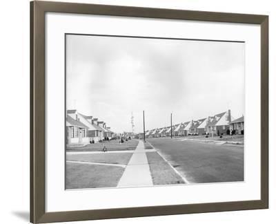 Houses in Levittown, Long Island--Framed Photographic Print