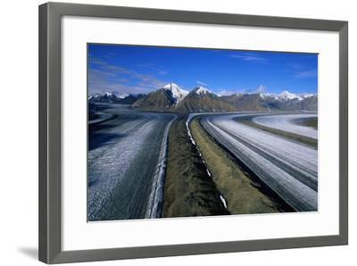 Russell Glacier and Moraines-Paul Souders-Framed Photographic Print