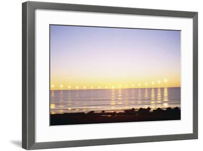 Midnight Sun over Sigurdarstadavik Bay-Paul Souders-Framed Photographic Print