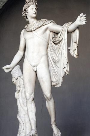 Roman Copy of Apollo Belvedere-Leochares-Framed Photographic Print