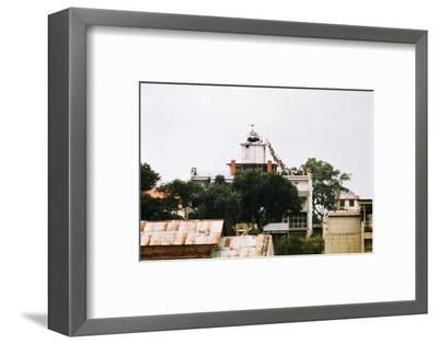 Evacuees Boarding a Helicopter--Framed Photographic Print