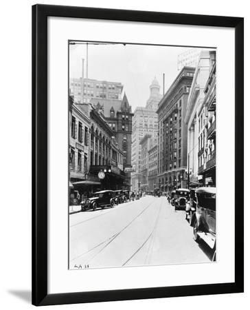 A Downtown Street in New Orleans--Framed Photographic Print