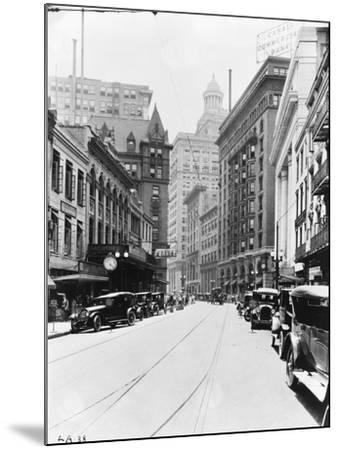 A Downtown Street in New Orleans--Mounted Photographic Print