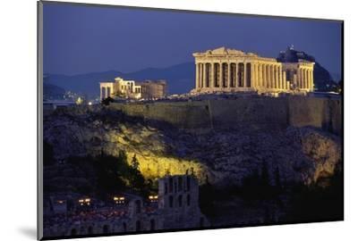 Parthenon Illuminated at Dusk-Paul Souders-Mounted Photographic Print