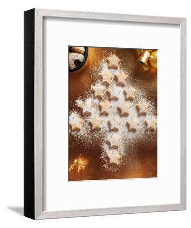 Christmas Cookies Arranged into Tree Shape-Colin Anderson-Framed Photographic Print