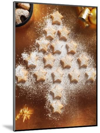 Christmas Cookies Arranged into Tree Shape-Colin Anderson-Mounted Photographic Print
