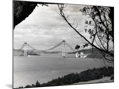 General View of Golden Gate Bridge--Mounted Photographic Print