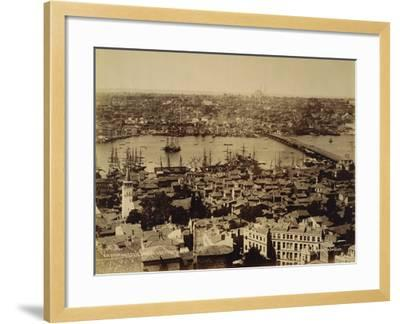 Aerial View of a Bridge over the Bosporus in Istanbul--Framed Photographic Print