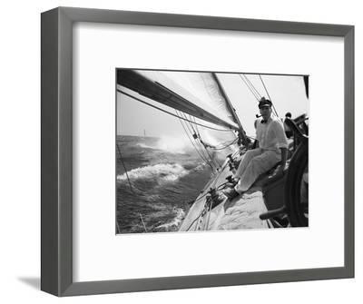Sailing on Lake Michigan--Framed Photographic Print