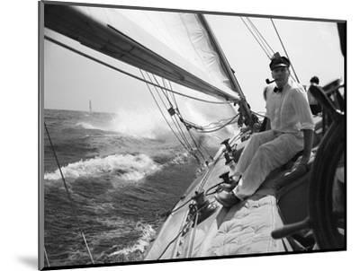 Sailing on Lake Michigan--Mounted Photographic Print