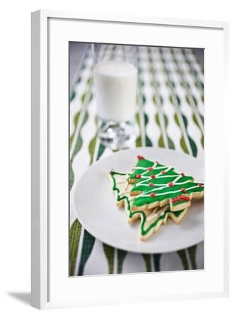 Christmas Cookies and Milk--Framed Photographic Print