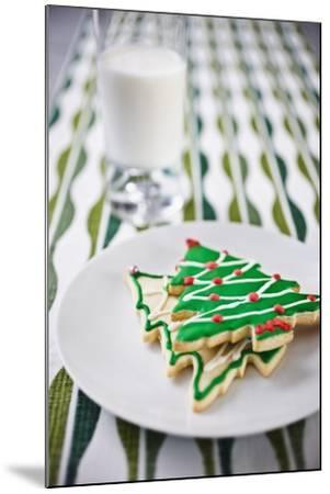 Christmas Cookies and Milk--Mounted Photographic Print