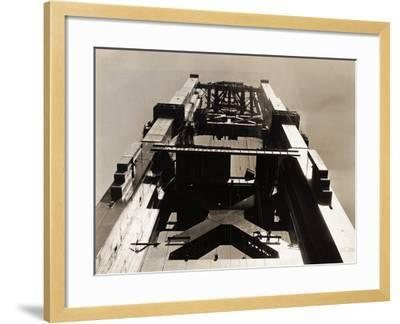Golden Gate Bridge under Construction--Framed Photographic Print