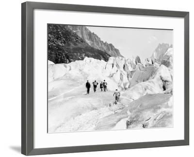 Glacier on Mount Blanc--Framed Photographic Print