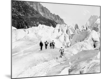 Glacier on Mount Blanc--Mounted Photographic Print