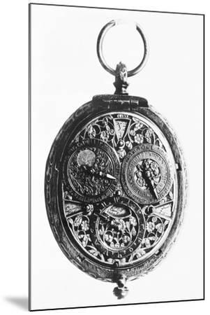 17th-Century German Calendar Watch--Mounted Photographic Print