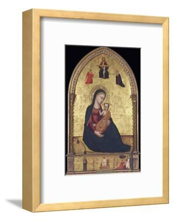 Madonna and Child with the Holy Trinity and the Annunciation-Lorenzo Di Bicci-Framed Photographic Print