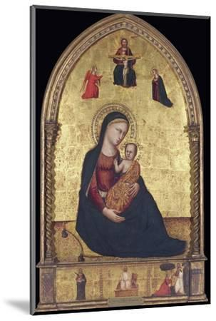 Madonna and Child with the Holy Trinity and the Annunciation-Lorenzo Di Bicci-Mounted Photographic Print