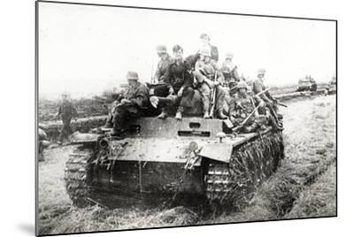 A German Panzer Pz Kpwiii Ausfe Tank--Mounted Photographic Print