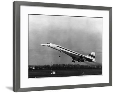 Taking Off for the First Time at 3.30 P.M. Is Concorde 001--Framed Photographic Print