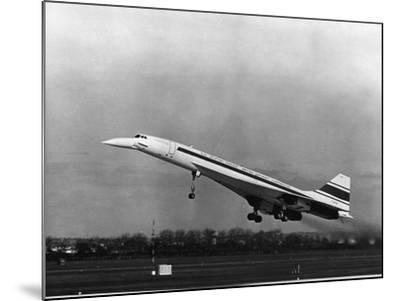 Taking Off for the First Time at 3.30 P.M. Is Concorde 001--Mounted Photographic Print