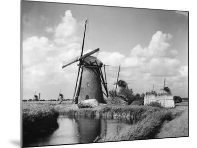 Canalside Windmills--Mounted Photographic Print