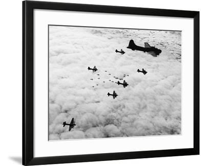 Flying Fortresses in Flight over Germany--Framed Photographic Print