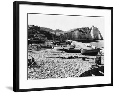 Boats Standing on Beach--Framed Photographic Print