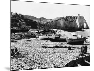 Boats Standing on Beach--Mounted Photographic Print