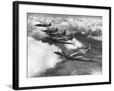 Hawker Hurricanes in Flight--Framed Photographic Print